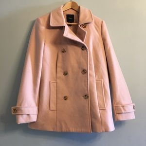 ❄️Baby it's cold outside! ❄️Blush Pink Pea Coat L